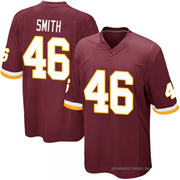 Maurice Smith Washington Redskins Game Burgundy Team Color Jersey